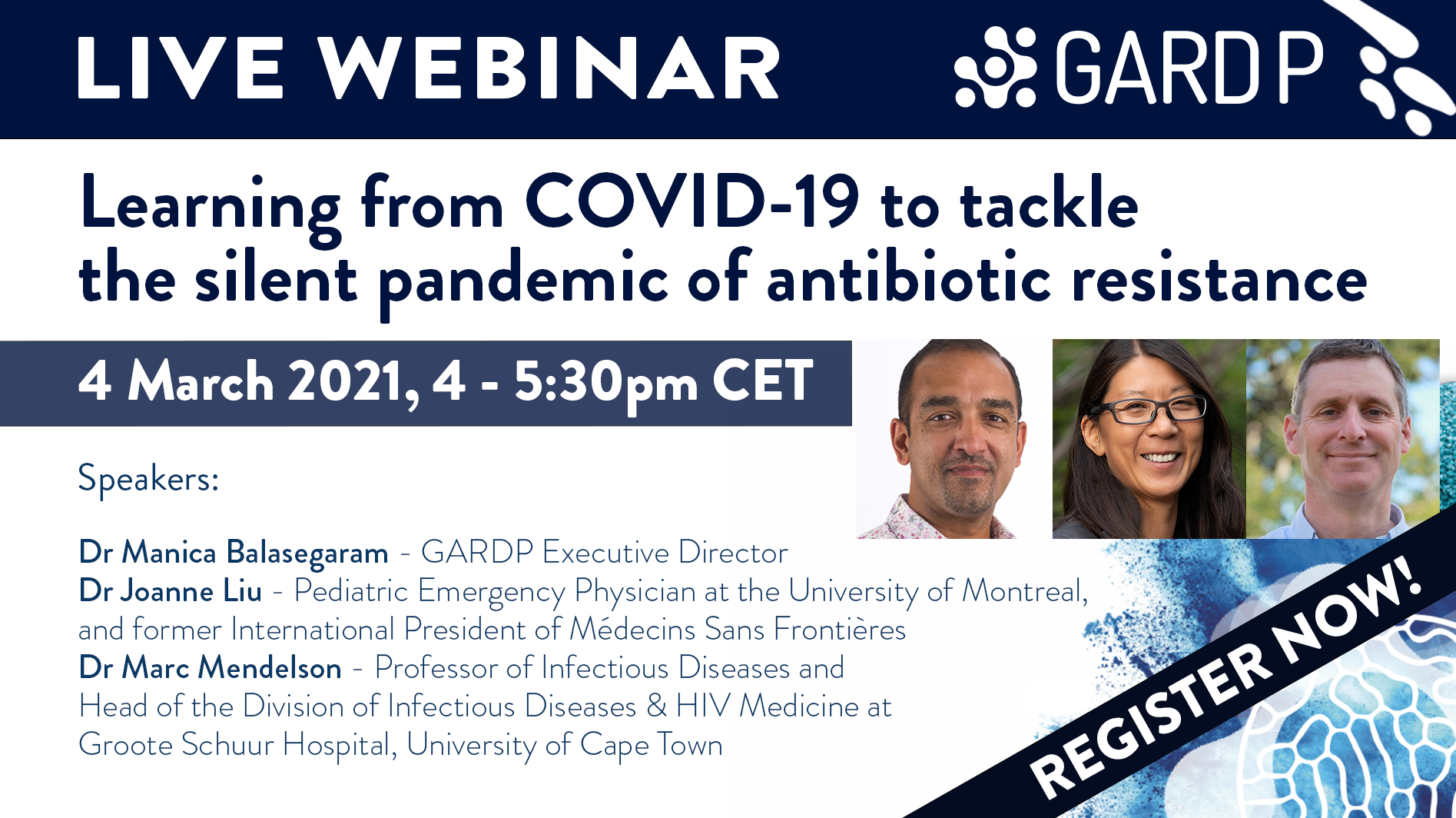 Webinar: Learning from COVID-19 to tackle the silent pandemic of antibiotic resistance